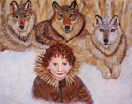 Little Bernard and The Wolves by The Art With A Heart By Charlotte Phillips