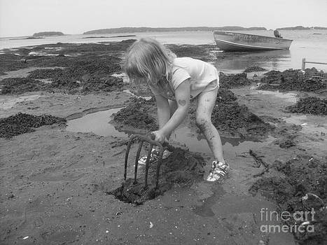 Little clam digger by Christy Beal