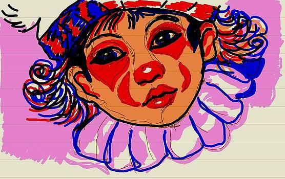 Little Clown by Farfallina Art -Gabriela Dinca-