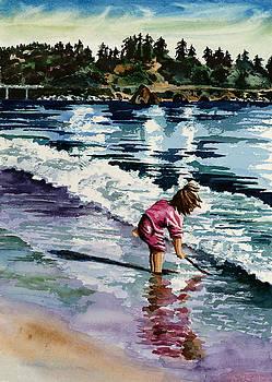 Little Girl in Pink by Maureen Dean