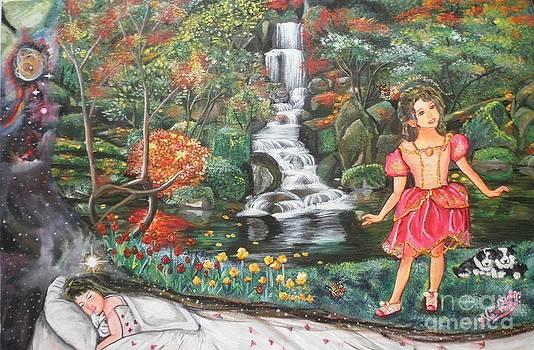 Little Girl's Dream by Artist Nandika  Dutt