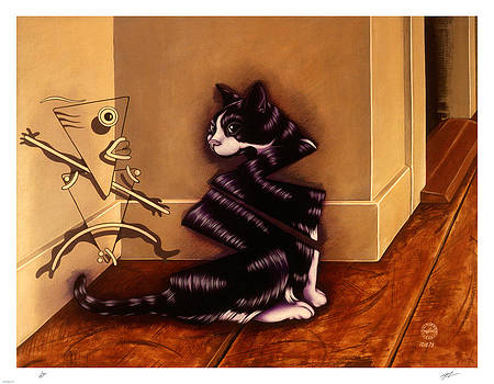Little Kitty Sees Herself by Philip Slagter