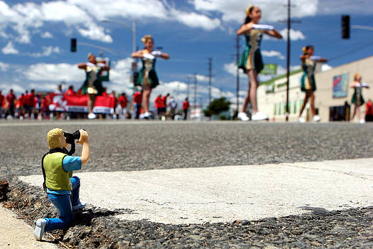Little Lon Photographing Burbank on Parade by Lon Casler Bixby
