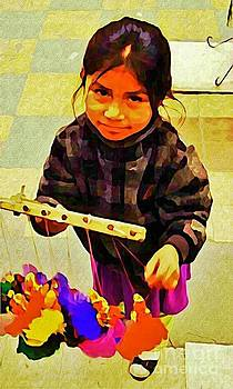 John Malone - Little Mexican Girl Selling Crafts
