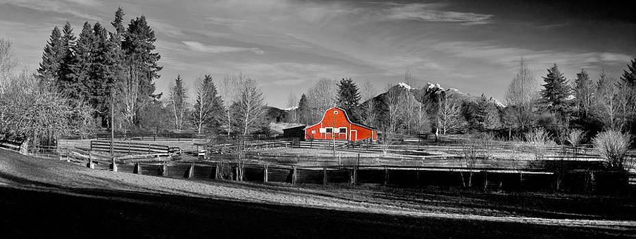 Little Red barn by Phil Dyer