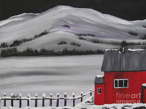 Little Red Houseboat by Beverly Livingstone