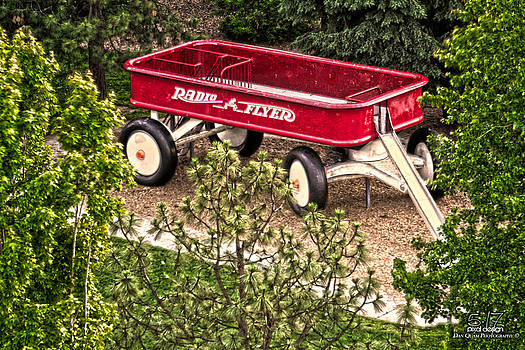 Little red wagon by Dan Quam