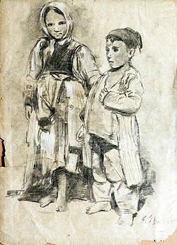 Little Refugees - Greek Orphans by Sefedin Stafa