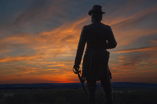 Little Roundtop Sunset by Wayne Letsch