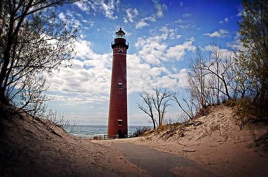 Little Sable Pointe Lighthouse by Cheryl Cencich