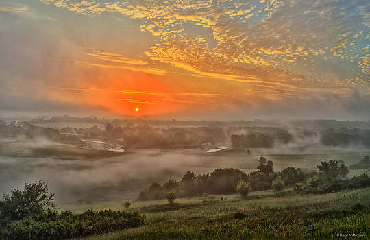 Little Sioux River Valley Sunrise by Bruce Morrison