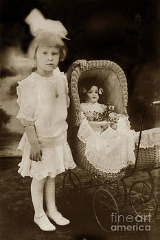 California Views Mr Pat Hathaway Archives - little Victorian girl with a wicker doll  carriage 1900