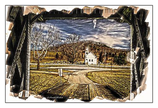 Randall Branham - Little White church Framed by Bridge