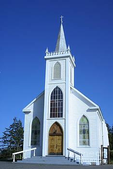 Little White Church In Bodeaga by Tina Hailey