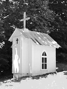 Little White Church by Judy  Waller