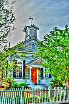 Little white Church by Mike Bass