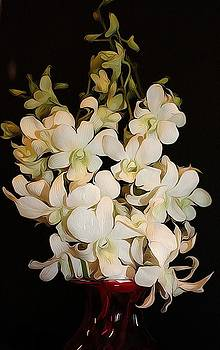 Little White Orchids by Cathie Tyler