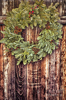 Live Christmas Wreath  by Susan Gary