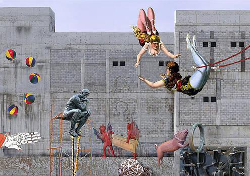 Live circus at heaven's door by Maria Jesus Hernandez
