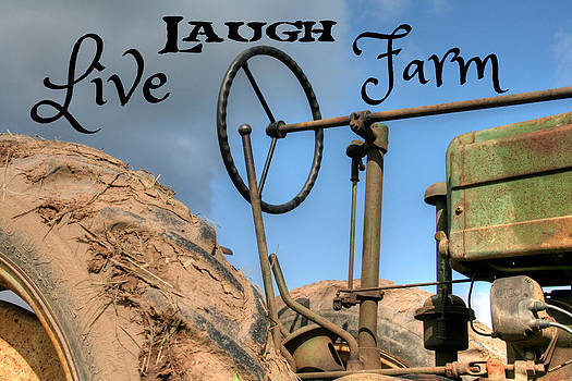 Live Laugh Farm Tractor by Heather Allen