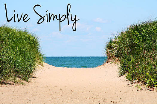 Live Simply Beach by Heather Allen