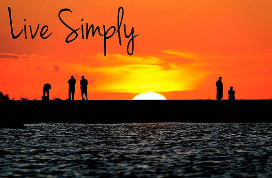 Live Simply Pier by Michael Allen