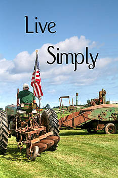 Live Simply Tractor by Heather Allen