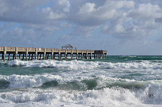 Lively Surf At Juno by Laura Fasulo