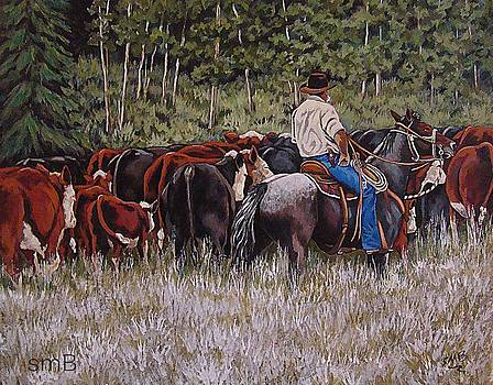 Living The Dream-Moving The Herd by Susan Bergstrom