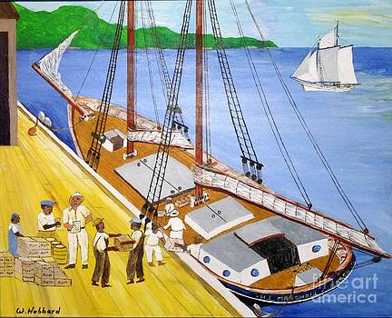 Loading the sch. H.L.Marshall at Jamaica by Bill Hubbard
