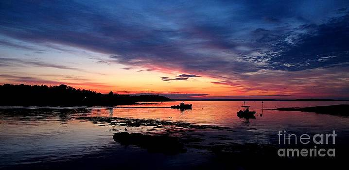 Lobster Boat Sunrise 2 by Donnie Freeman