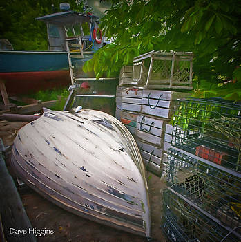 Lobsterman's Back Yard Stonington  Maine by Dave Higgins