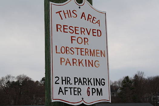 Lobstermen Parking by Terry Decker