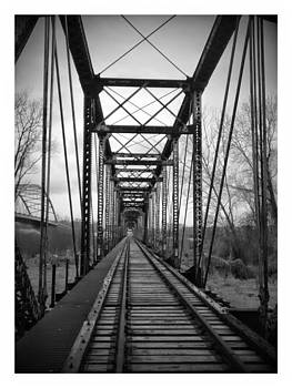 local train bridge in Atchison Kansas. by Dustin Soph