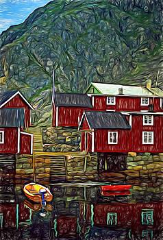Steve Harrington - Lofoten Fishing Huts - Paint