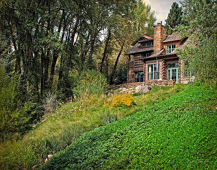 Log Cabin in Aspen Colorado by Julie Magers Soulen
