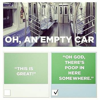 Lol Any Subway System. 💩 by Caitlin Kunzle