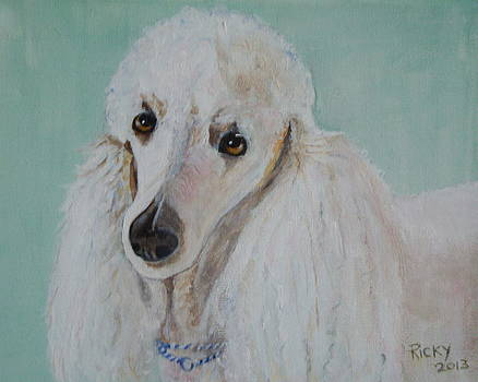 Lola Blue - painting by Veronica Rickard