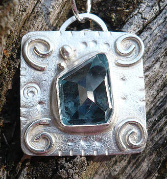 London Blue Topaz Pendant by Arianna Bara