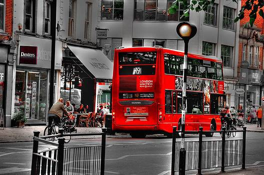 London Bus by Christine May