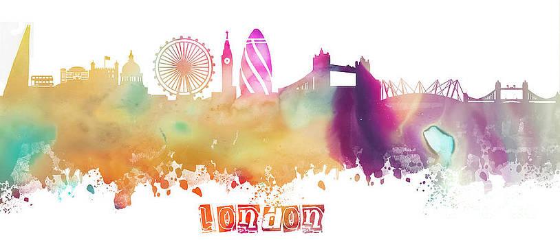 Justyna Jaszke JBJart - London England Skyline pastel