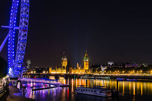 London Eye and  Big Ben by Fiona Messenger