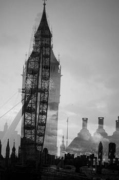 London Eye and Big Ben by Simon Hackett