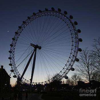 Jeremy Hayden - London Eye and New Moon