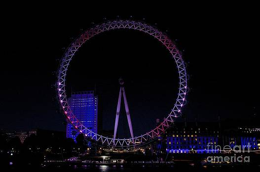 Jeremy Hayden - London Eye in Red White and Blue