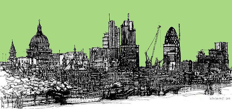 Dark Ink of London with hemlock green by Adendorff Design