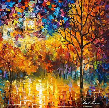 London-Saint James Park - Part 2 of 2 - PALETTE KNIFE Oil Painting On Canvas By Leonid Afremov by Leonid Afremov