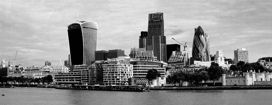 David French - London Skyline Cityscape bw