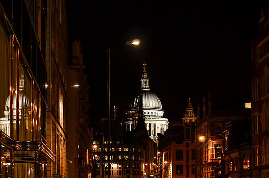 London St. Paul at night by Anastasia E