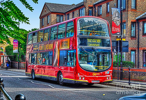 London to Lewisham Red Double-decker Bus UK by Skye Ryan-Evans